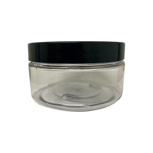 8oz Clear PET Single Wall Jar with 89-400 Neck Finish