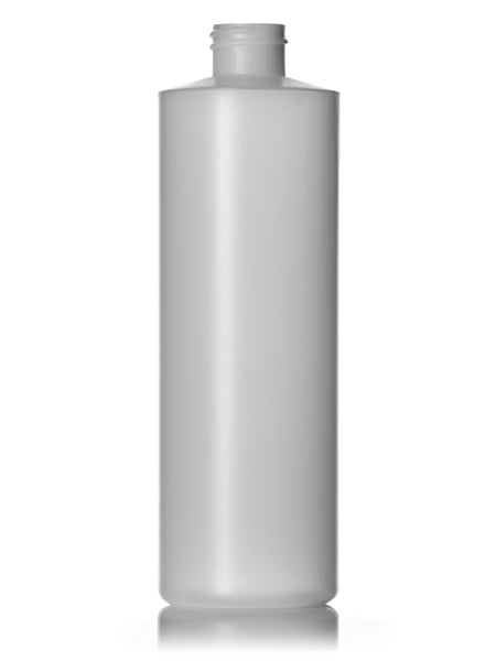 16oz Natural HDPE Cylinder Round Bottle with 24-410 Neck Finish