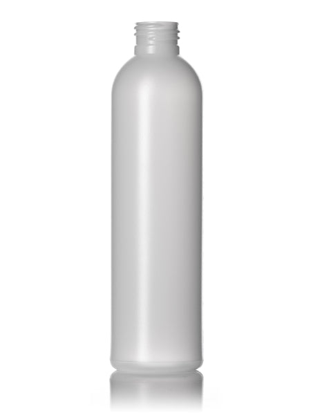 8oz Natural HDPE Imperial Round Bottle with 24-410 Neck Finish
