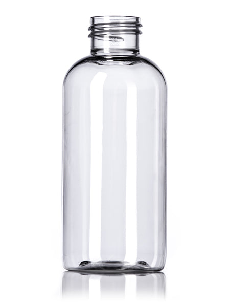 4oz Clear PET Boston Round Bottle with 24-410 Neck Finish