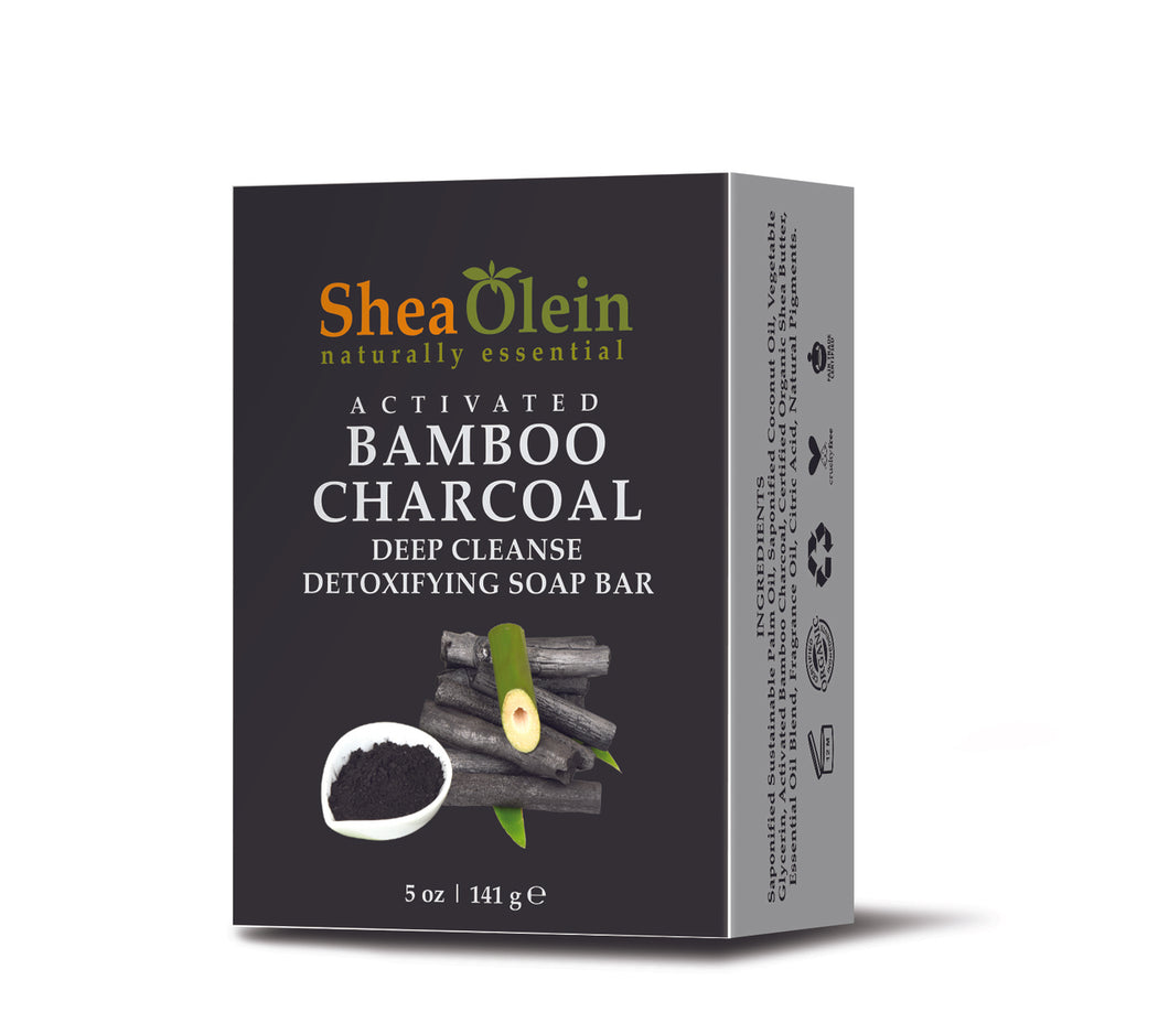 Activated Bamboo Charcoal Deep Cleanse Detoxifying Soap Bar