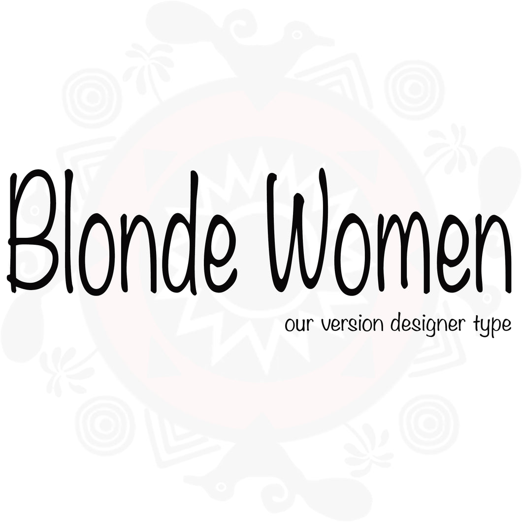 Blonde Woman Type Fragrance