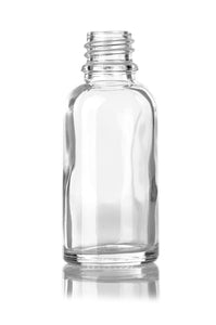 30ml Clear Glass Euro Bottle with 18 DIN Neck Finish