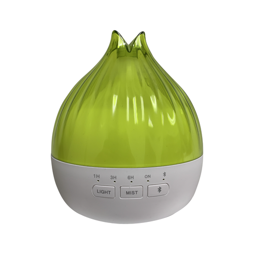 Green Essential Oil Diffuser With Built-In Bluetooth Speaker