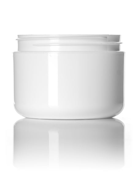 8oz White Double Wall Jar with 89-400 Neck Finish