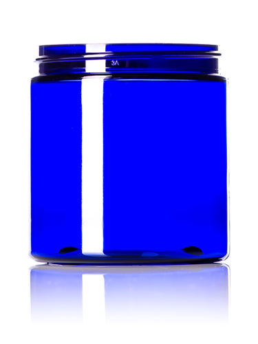8oz Cobalt Blue PET Single Wall Jar with 70-400 Neck Finish