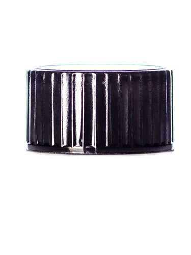 Black PP 18-400 Phenolic Cap with PP Polycone Liner