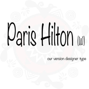 Paris Hilton (W) type Paris Hilton (W) Paris Hilton type