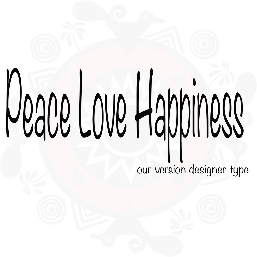 Peace Love Hapiness Pure Fragrance