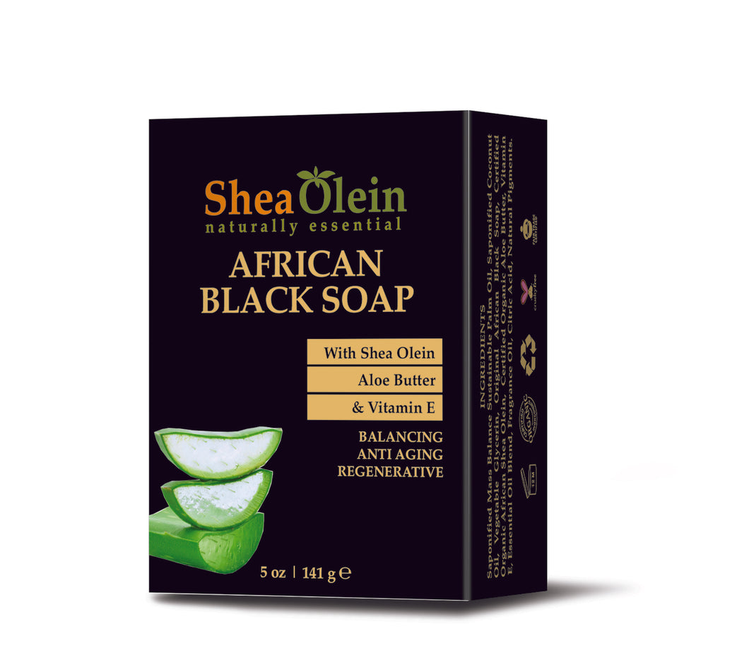 African Black Soap with Aloe Butter & Vitamin E