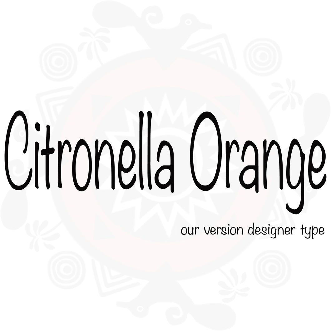 Citronella Orange Type Fragrance