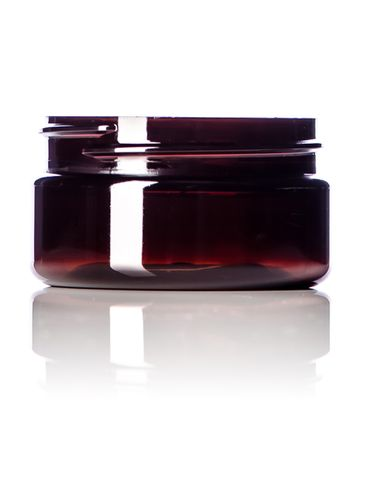 2oz Amber PET Jar with 58-400 Neck Finish