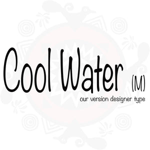 Cool Water (M) type compared to Cool Water (M) by Davidoff type