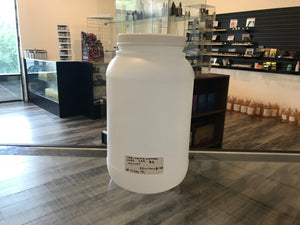 1 Gallon Plastic Jar With White Flat Lid