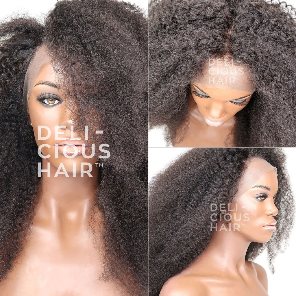 Afro Coily - Full, 360 & Lace Front Wig - 100%  Remy & Virgin Human Hair