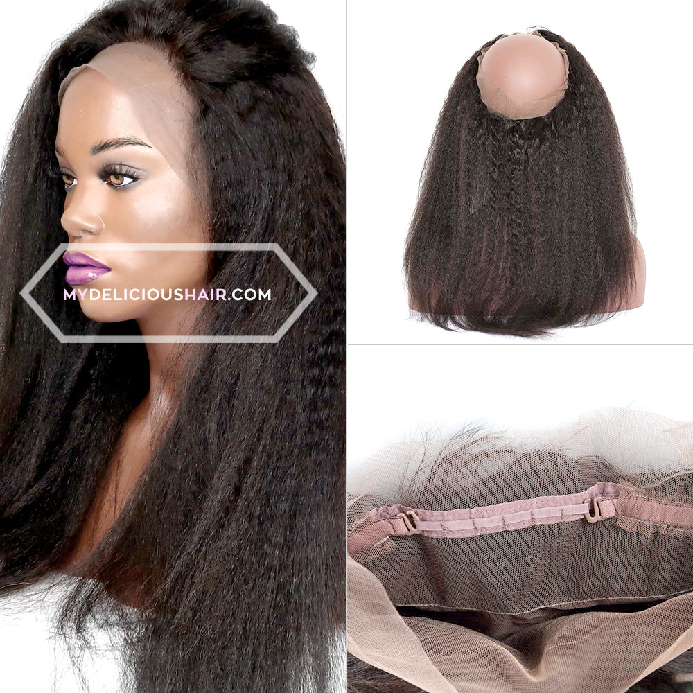 Kinky Straight - 360 Lace Frontal Band