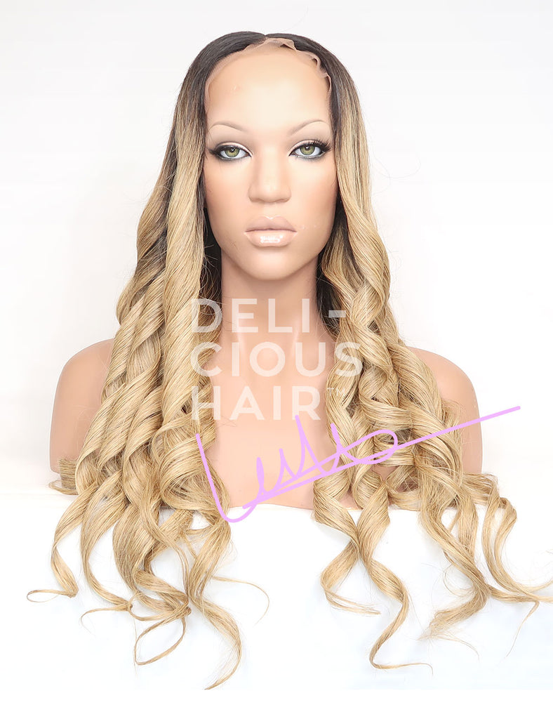 "Lemonade - 24"" Lace Wig - 100% Virgin Brazilian Human Hair - Candy-Melt Wig Collection"