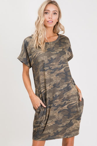 Camo Pocket Dress