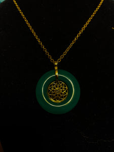 EXCLUSIVE GENUINE JADE CUSTOM THP LOGO NECKLACE 3cm