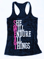She Will Endure All Things (Pink and White)