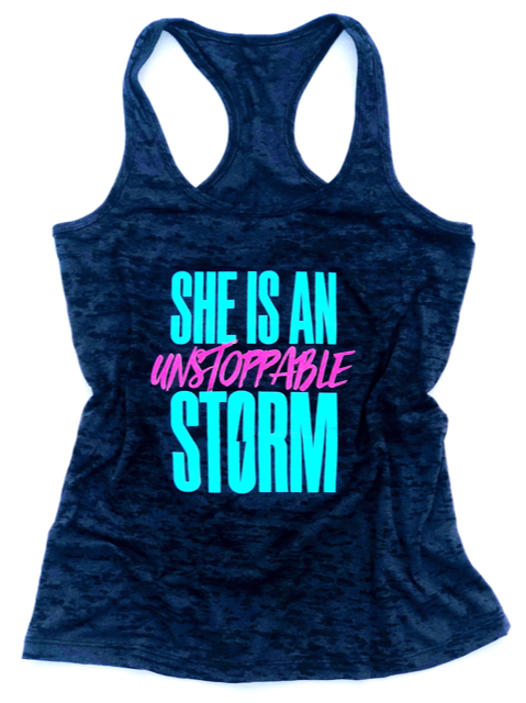 She Is An Unstoppable Storm (Purple + Blue)