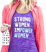 Strong Women Empower Women Purple