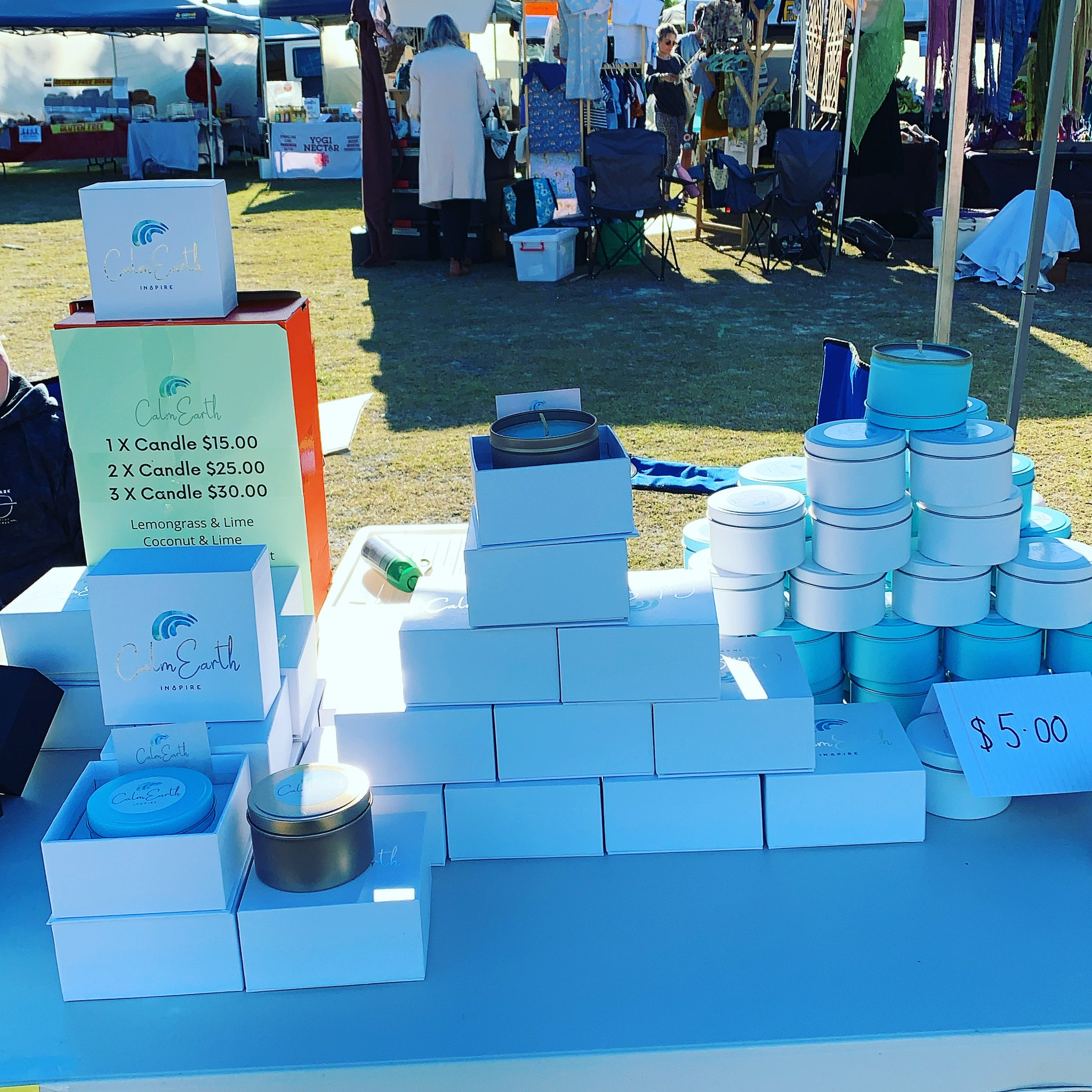 Calm Earth Co was at Kingscliff Market