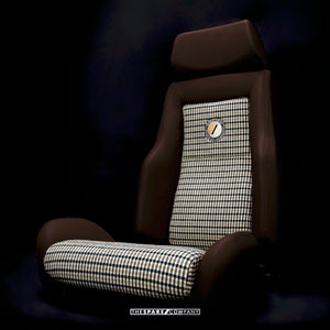 The Hudson Dark Chocolate Leather Front Seat for Land Rover Defender - The Spare Company