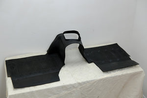 Land Rover Defender Td5 OEM Rubber Front Mats and Transmission Tunnel Trim [Used] - The Spare Company
