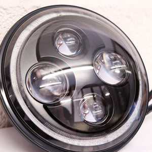 "7"" LED Halo Headlamps Pair to Fit Land Rover Defender [Unused] - The Spare Company"