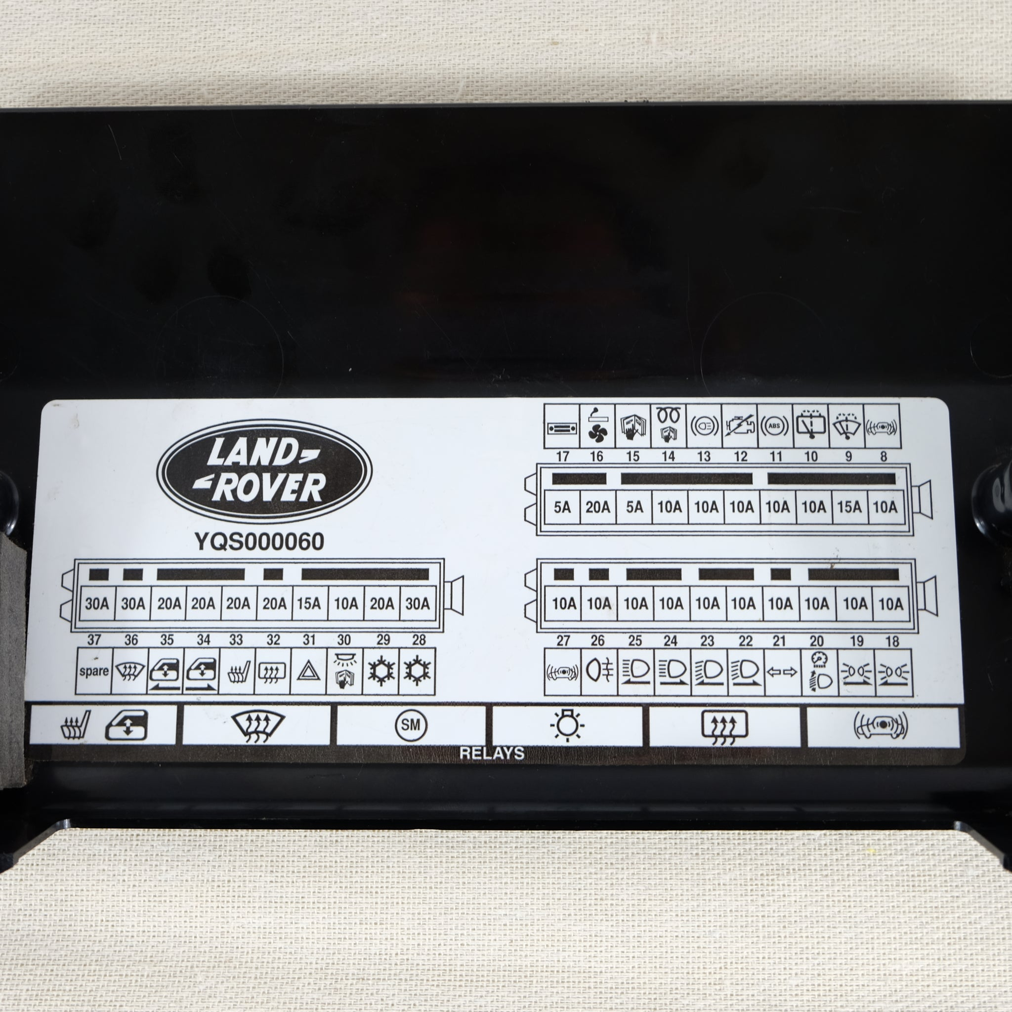 Land Rover Defender OEM Td5 Fuse Box Cover [Used] - The Spare Company