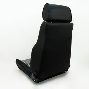 The Hudson Ebony Leather Front Seat for Land Rover Defender - The Spare Company