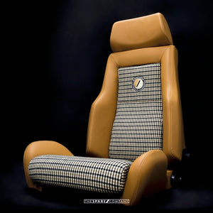 The Hudson Saddle Tan Leather Front Seat for Land Rover Defender - The Spare Company