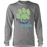 My Kids Have Paws Border Collie Long Sleeve Tee