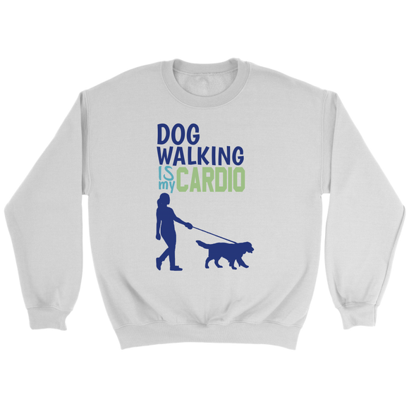 Dog Walking is My Cardio Border Collie Crew Neck