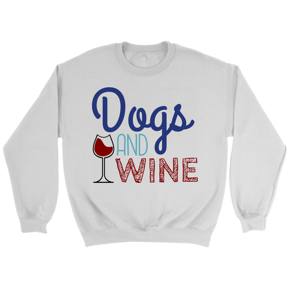 Dogs and Wine Golden Retriever Crew Neck