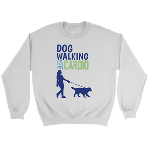 Dog Walking is My Cardio Yorkie Crew Neck