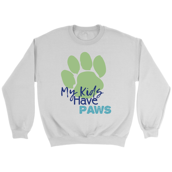 My Kids Have Paws Crew Neck