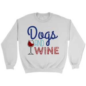 Dogs and Wine Dachshund Crew Neck