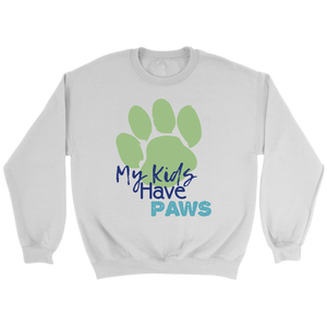 My Kids Have Paws Golden Retriever Crew Neck