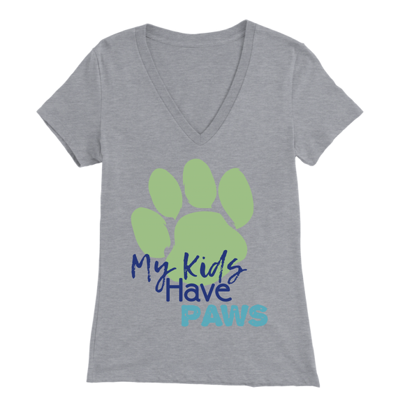 My Kids Have Paws Yorkie V-Neck