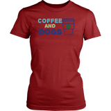 Coffee and Dogs Bulldog Tee
