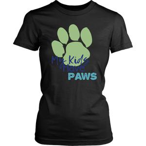 My Kids Have Paws Border Collie Tee