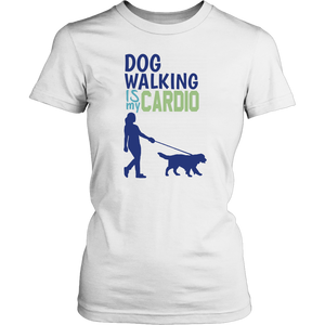 Dog Walking is My Cardio Rottweiler Tee