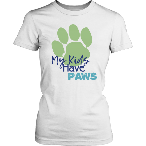 My Kids Have Paws Bulldog Tee