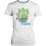 My Kids Have Paws Golden Retriever Tee