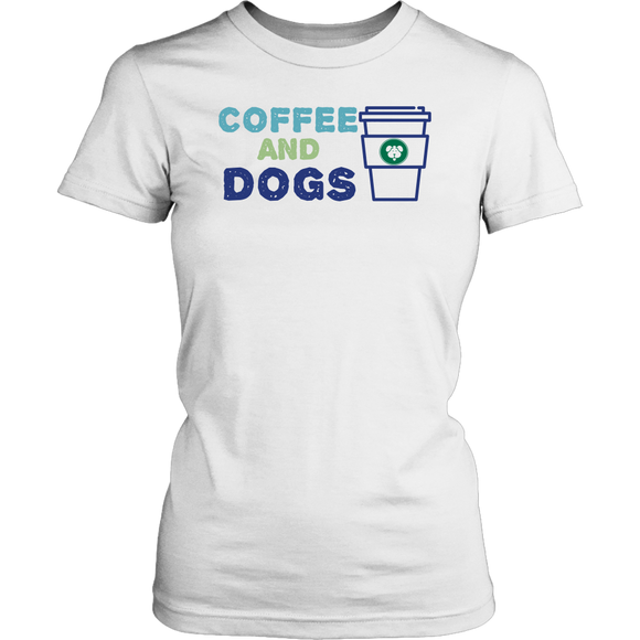Coffee and Dogs Golden Retriever Tee