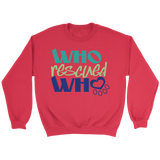 Who Rescued Who Golden Retriever Crew Neck