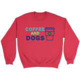 Coffee and Dogs Bulldog Crew Neck