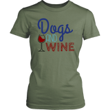 Dogs and Wine Golden Retriever Tee